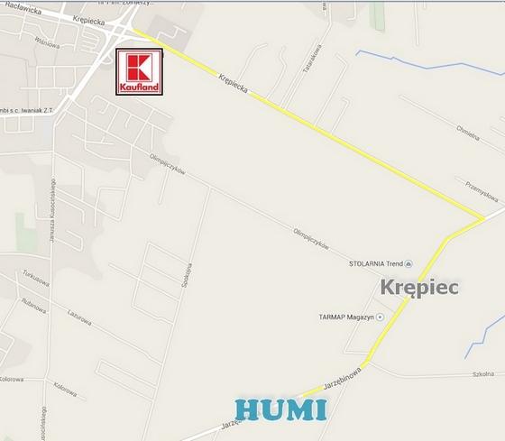 mapka dojazdu do HUMI.pl od Świdnika